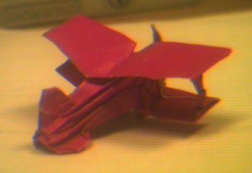 An Origami Biplane