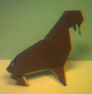 An Origami Walrus